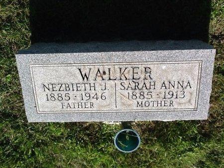 WALKER, SARAH ANNA - Champaign County, Illinois | SARAH ANNA WALKER - Illinois Gravestone Photos