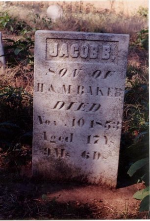 BAKER, JACOB - Christian County, Illinois   JACOB BAKER - Illinois Gravestone Photos