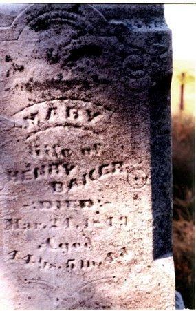KLINEFELTER BAKER, MARY - Christian County, Illinois | MARY KLINEFELTER BAKER - Illinois Gravestone Photos