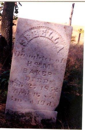 BAKER, SEBELLA - Christian County, Illinois | SEBELLA BAKER - Illinois Gravestone Photos