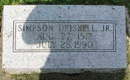DRISKELL, SIMPSON - Christian County, Illinois | SIMPSON DRISKELL - Illinois Gravestone Photos