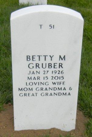 GRUBER, BETTY - Christian County, Illinois | BETTY GRUBER - Illinois Gravestone Photos
