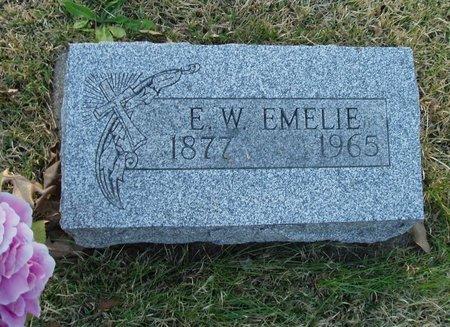 GRUBER, E.W. EMELIE - Christian County, Illinois | E.W. EMELIE GRUBER - Illinois Gravestone Photos