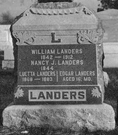 LANDERS, NANCY JANE - Christian County, Illinois | NANCY JANE LANDERS - Illinois Gravestone Photos