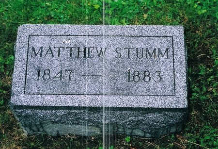 STUMM, MATTHEW - Christian County, Illinois | MATTHEW STUMM - Illinois Gravestone Photos