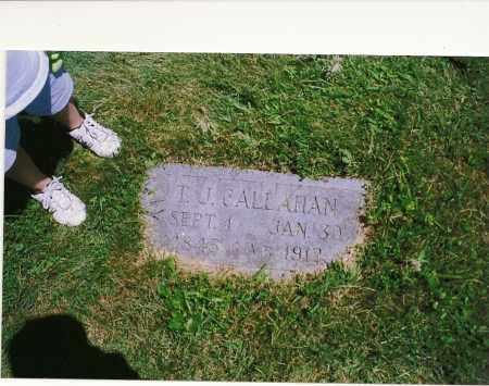 CALLAHAN, THOMAS J. - Clark County, Illinois | THOMAS J. CALLAHAN - Illinois Gravestone Photos