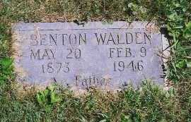 WALDEN, BENTON - Clark County, Illinois | BENTON WALDEN - Illinois Gravestone Photos