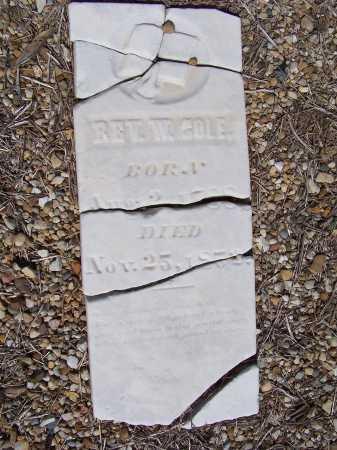 COLE, REV. WILLIAM F. - Clinton County, Illinois | REV. WILLIAM F. COLE - Illinois Gravestone Photos
