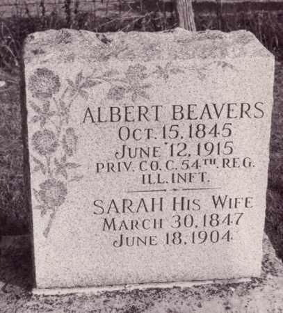 BEARVERS, SARAH - Coles County, Illinois | SARAH BEARVERS - Illinois Gravestone Photos