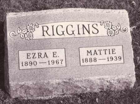RIGGINS, MATTIE - Coles County, Illinois | MATTIE RIGGINS - Illinois Gravestone Photos