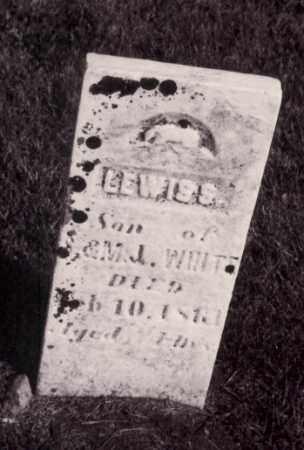 WHITE, LEWIS S. - Coles County, Illinois | LEWIS S. WHITE - Illinois Gravestone Photos
