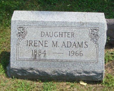 ADAMS, IRENE M. - Cook County, Illinois | IRENE M. ADAMS - Illinois Gravestone Photos