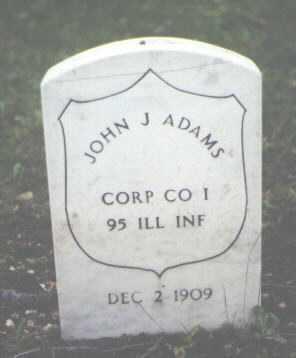 ADAMS, JOHN J. - Cook County, Illinois | JOHN J. ADAMS - Illinois Gravestone Photos
