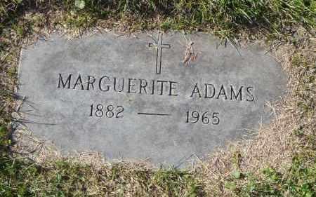 ADAMS, MARGUERITE - Cook County, Illinois | MARGUERITE ADAMS - Illinois Gravestone Photos