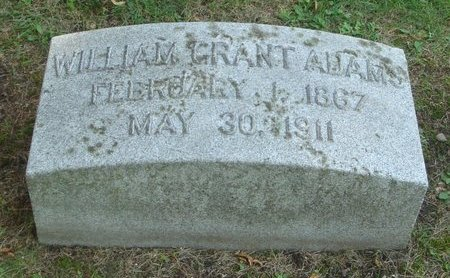 ADAMS, WILLIAM GRANT - Cook County, Illinois | WILLIAM GRANT ADAMS - Illinois Gravestone Photos