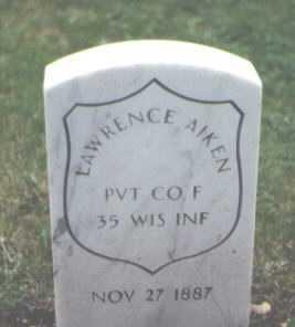 AIKEN, LAWRENCE - Cook County, Illinois | LAWRENCE AIKEN - Illinois Gravestone Photos