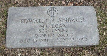 ANBACH, EDWARD P - Cook County, Illinois   EDWARD P ANBACH - Illinois Gravestone Photos