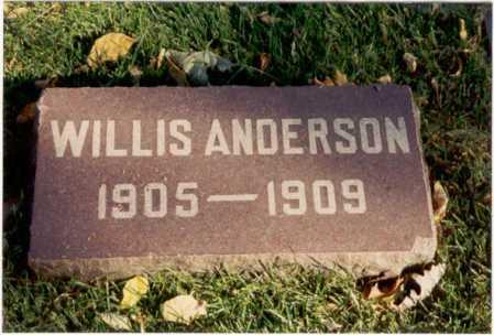ANDERSON, WILLIS - Cook County, Illinois | WILLIS ANDERSON - Illinois Gravestone Photos