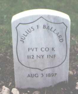 BALLARD, JULIUS F. - Cook County, Illinois   JULIUS F. BALLARD - Illinois Gravestone Photos