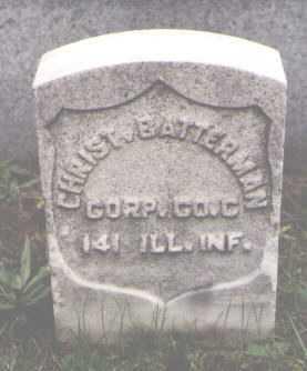 BATTERMAN, CHRIST. - Cook County, Illinois | CHRIST. BATTERMAN - Illinois Gravestone Photos