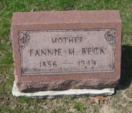 BECK, FANNIE M. - Cook County, Illinois   FANNIE M. BECK - Illinois Gravestone Photos