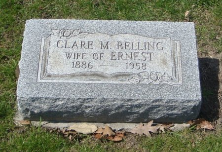 BELLING, CLARE M. - Cook County, Illinois | CLARE M. BELLING - Illinois Gravestone Photos