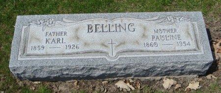 BELLING, KARL - Cook County, Illinois | KARL BELLING - Illinois Gravestone Photos