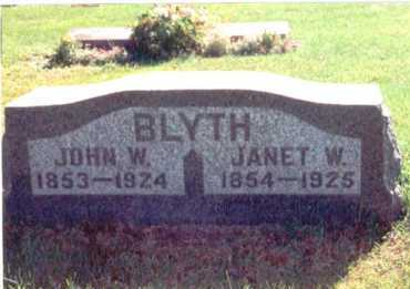 BLYTH, JANET - Cook County, Illinois | JANET BLYTH - Illinois Gravestone Photos