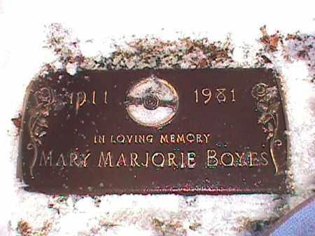 BOYES, MARY MARJORIE - Cook County, Illinois   MARY MARJORIE BOYES - Illinois Gravestone Photos