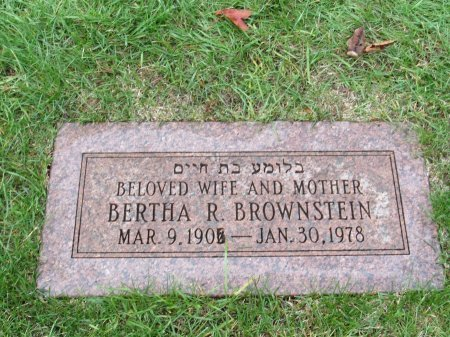 BROWNSTEIN, BERTHA REBECCA - Cook County, Illinois | BERTHA REBECCA BROWNSTEIN - Illinois Gravestone Photos