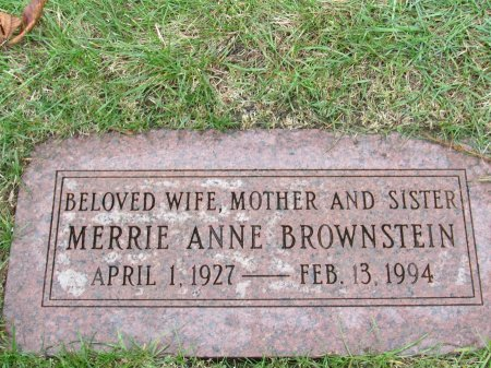 NEWMAN BROWNSTEIN, MERRIE ANNE - Cook County, Illinois | MERRIE ANNE NEWMAN BROWNSTEIN - Illinois Gravestone Photos