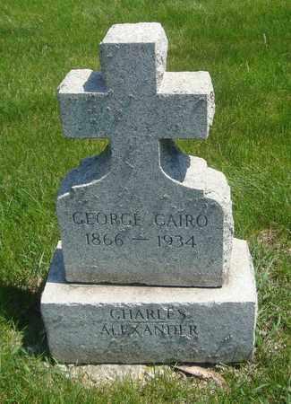 CAIRO, GEORGE - Cook County, Illinois | GEORGE CAIRO - Illinois Gravestone Photos