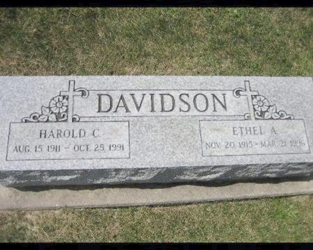 DAVIDSON, ETHEL A - Cook County, Illinois | ETHEL A DAVIDSON - Illinois Gravestone Photos
