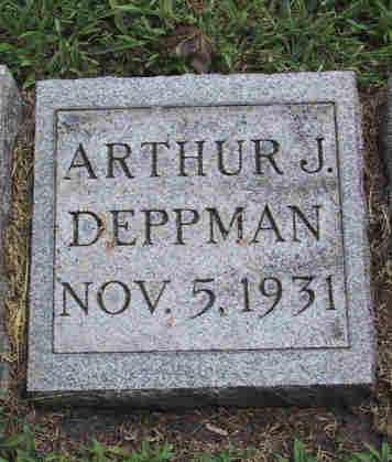 DEPPMAN, ARTHUR J - Cook County, Illinois | ARTHUR J DEPPMAN - Illinois Gravestone Photos