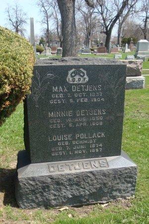 DETJENS, MAX - Cook County, Illinois   MAX DETJENS - Illinois Gravestone Photos