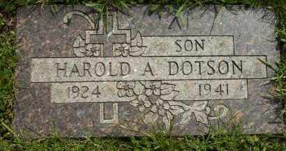 DOTSON, HAROLD - Cook County, Illinois   HAROLD DOTSON - Illinois Gravestone Photos