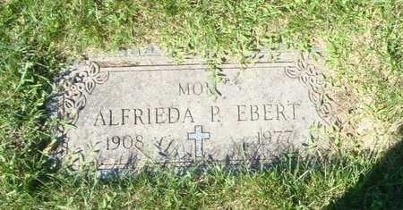 EBERT, ALFRIEDA P. - Cook County, Illinois | ALFRIEDA P. EBERT - Illinois Gravestone Photos