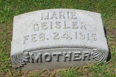 GEISLER, MARIE - Cook County, Illinois   MARIE GEISLER - Illinois Gravestone Photos