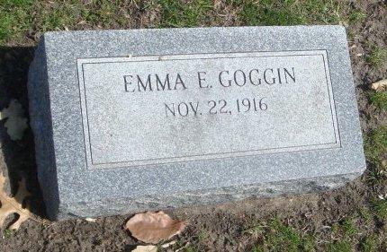 GOGGIN, EMMA E. - Cook County, Illinois   EMMA E. GOGGIN - Illinois Gravestone Photos
