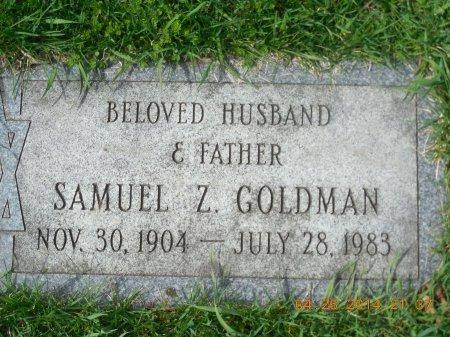 GOLDMAN, SAMUEL Z. - Cook County, Illinois | SAMUEL Z. GOLDMAN - Illinois Gravestone Photos