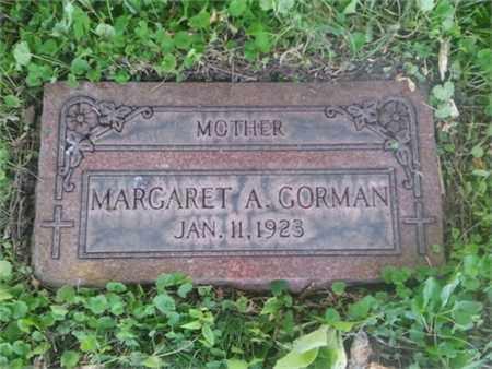 GORMAN, MARGARET - Cook County, Illinois   MARGARET GORMAN - Illinois Gravestone Photos