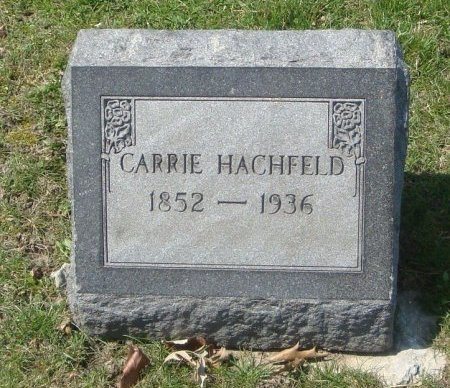 HACHFIELD, CARRIE - Cook County, Illinois | CARRIE HACHFIELD - Illinois Gravestone Photos