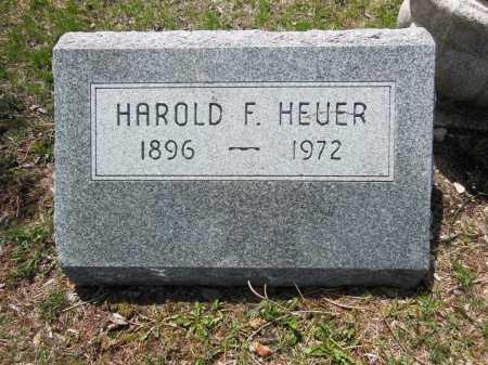 HEUER, HAROLD F - Cook County, Illinois | HAROLD F HEUER - Illinois Gravestone Photos
