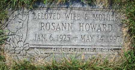 HOWARD, ROSANN - Cook County, Illinois   ROSANN HOWARD - Illinois Gravestone Photos