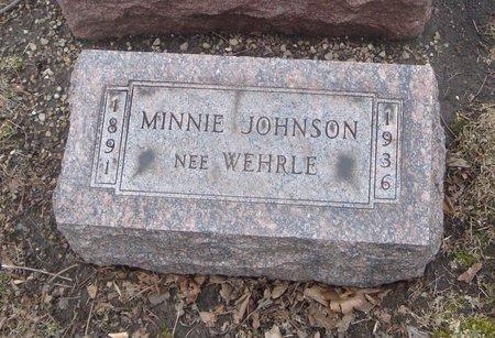 WEHRLE JOHNSON, MINNIE - Cook County, Illinois | MINNIE WEHRLE JOHNSON - Illinois Gravestone Photos