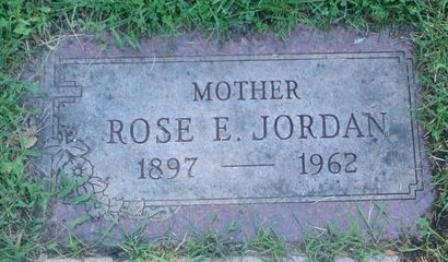 JORDAN, ROSE E. - Cook County, Illinois   ROSE E. JORDAN - Illinois Gravestone Photos