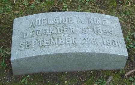 KING, ADELAIDE A. - Cook County, Illinois   ADELAIDE A. KING - Illinois Gravestone Photos