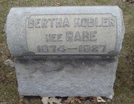 KOBLER, BERTHA - Cook County, Illinois | BERTHA KOBLER - Illinois Gravestone Photos