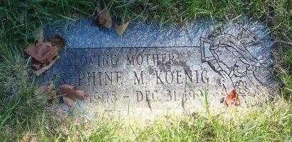 KOENIG, JOSEPHINE M. - Cook County, Illinois   JOSEPHINE M. KOENIG - Illinois Gravestone Photos