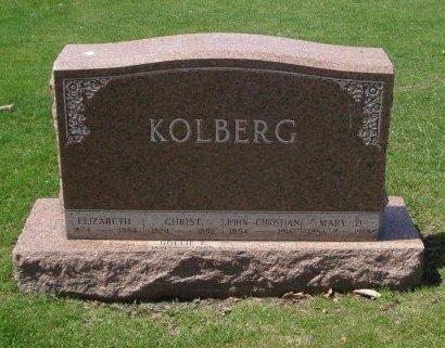 KOLBERG, JOHN CHER - Cook County, Illinois | JOHN CHER KOLBERG - Illinois Gravestone Photos
